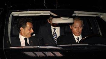 путин и саркози нарушают пдд
