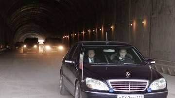 путин не включает фары в тоннеле