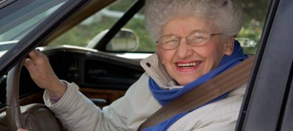 Бабуля за рулем
