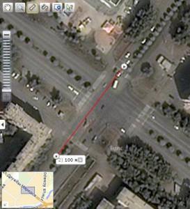 Перекресток, где произошел наезд на ребенка в Абакане
