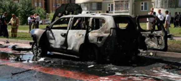 Взрыв автомобиля в Казани