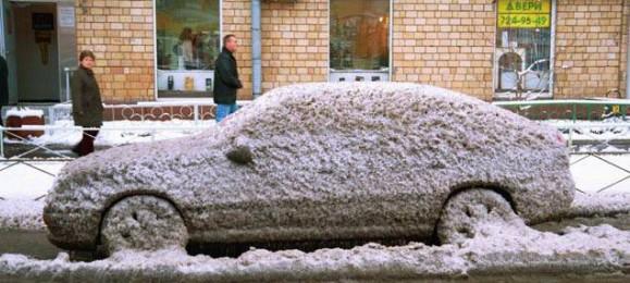 Замерзший автомобиль
