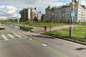 Кнопка вызова светофора на ул. Вахитова (Казань)