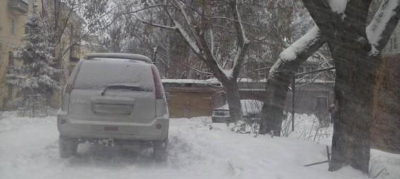 Зима. Снег.