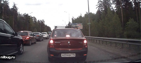 Пробка на Горьковском шоссе