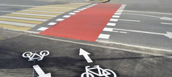 Разметка велосипедной дорожки