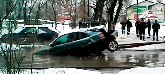 Как не надо вытаскивать автомобиль
