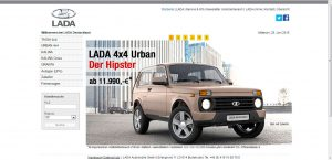 Старый сайт lada.de